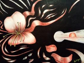 Acrilico e colori a matita - Acrylique et cryons à couleur